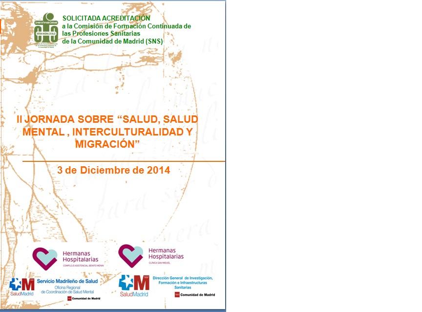 El Complejo Asistencial Benito Menni y la Clínica San Miguel, organizan la II Jornada sobre aspectos interculturales y salud mental